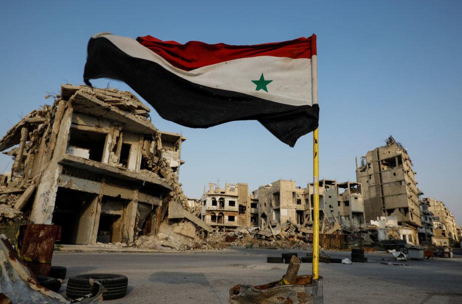 Į Sirijos sostinę po truputį grįžta normalus gyvenimas