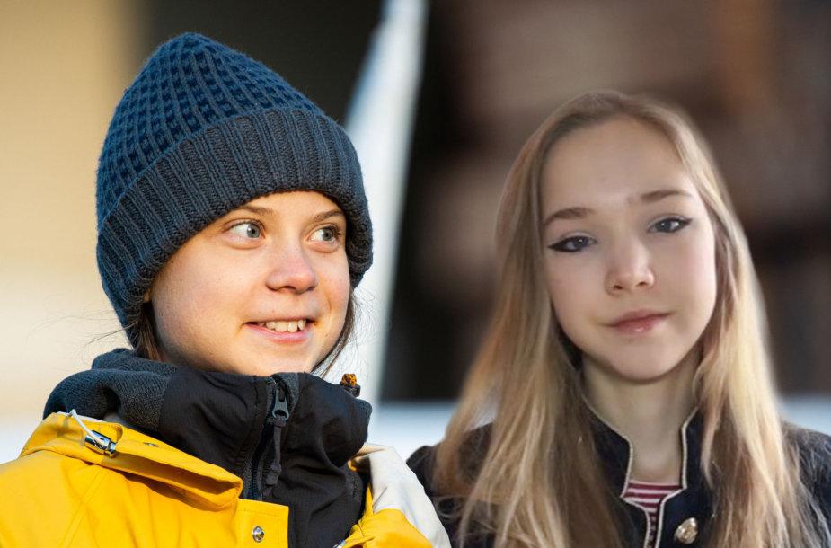Greta Thunberg ir Naomi Seibt