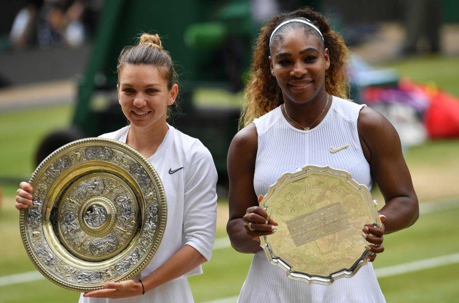 Simona Halep ir Serena Williams