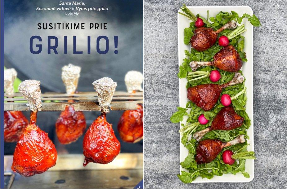 """Parūkyti vištienos blauzdelių """"ledinukai"""" – vienas iš el. knygos patiekalų"""