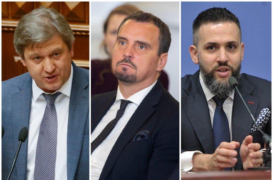 Oleksandras Danyliukas, Aivaras Abromavičius ir Maksimas Nefiodovas