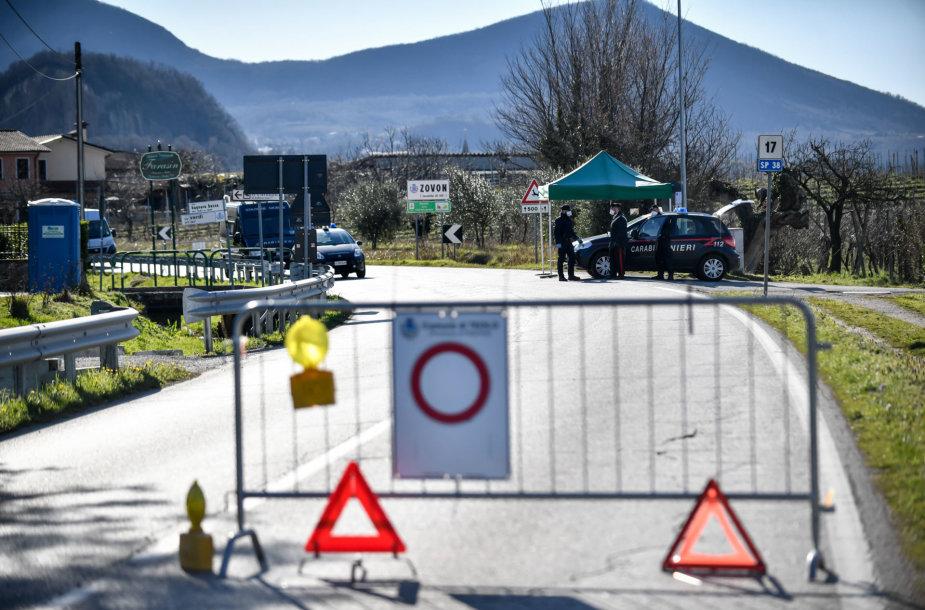 Vo Euganeo pavyzdys: nuo bene sunkiausios padėties Italijoje iki 0 naujų atvejų per savaitę