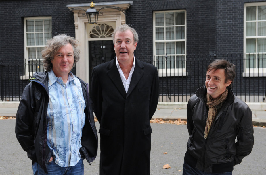 """Top Gear"" vedėjai: Jamesas May, Jeremy Clarksonas ir Richardas Hammondas"
