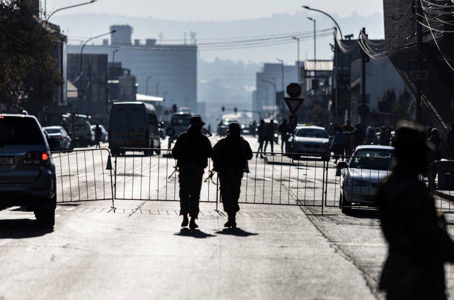 Policijos patrulis Pietų Afrikos Respublikoje