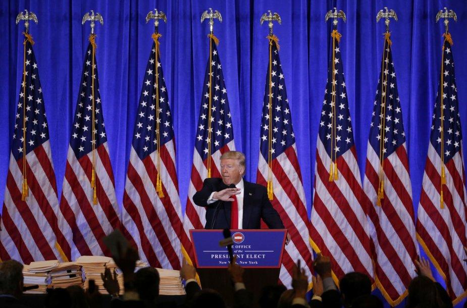Išrinktojo JAV prezidento Donaldo Trumpo spaudos konferencija