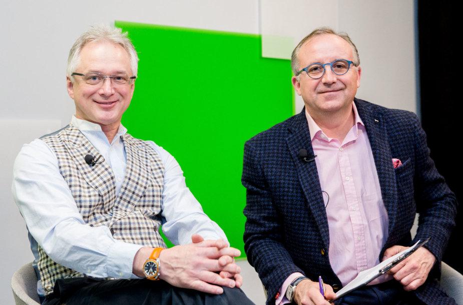 15min studijoje — plastinių operacijų chirurgai R.Vaičiūnas ir D.Balčiūnas