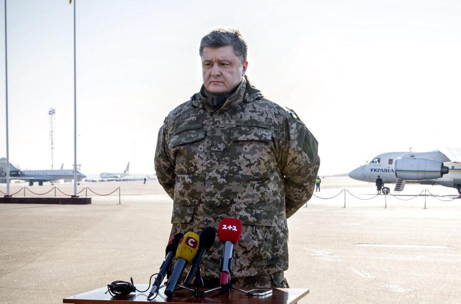 P.Porošenka: Ukrainos kariai palieka Debalcevę