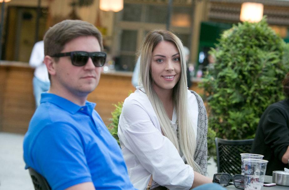 Liepa Norkevičienė su vyru Evaldu
