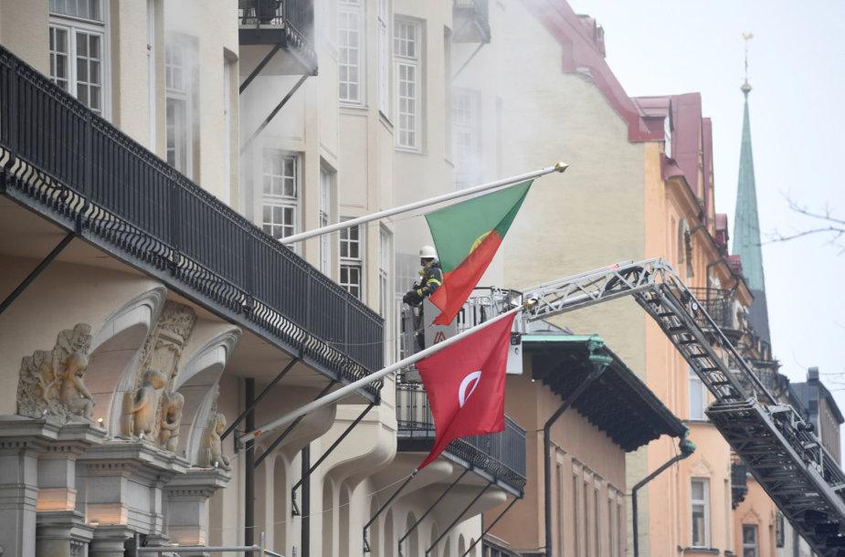 Gaisras Portugalijos ambasadoje