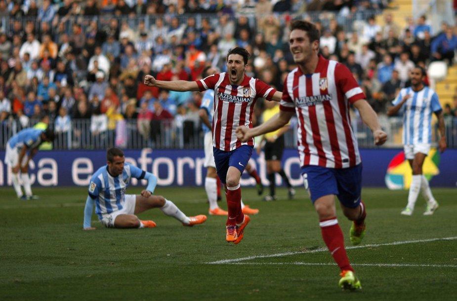 Davidas Villa ir Koke džiaugiasi įvarčiu