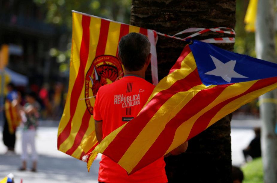 """Ispanijos separatistai pradeda """"rudens protestų"""" kampaniją"""