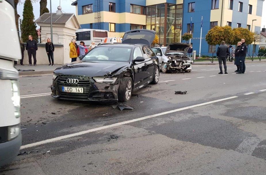 Masinė avarija Garliavoje