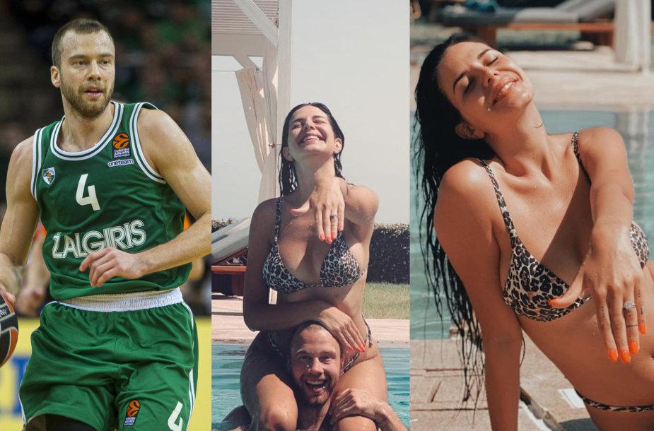 Lukas Lekavičius su mylimąja Melina