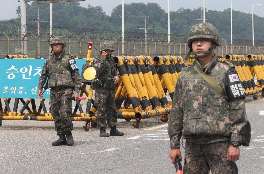 Pietų Korėja prie sienos su Šiaurės Korėja
