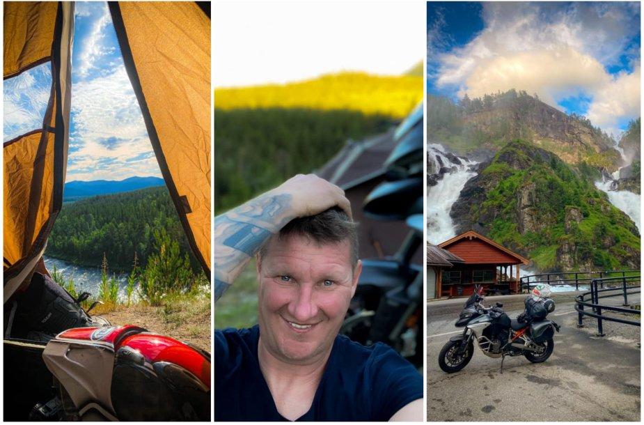 Nerijaus kelionė motociklu Norvegijoje