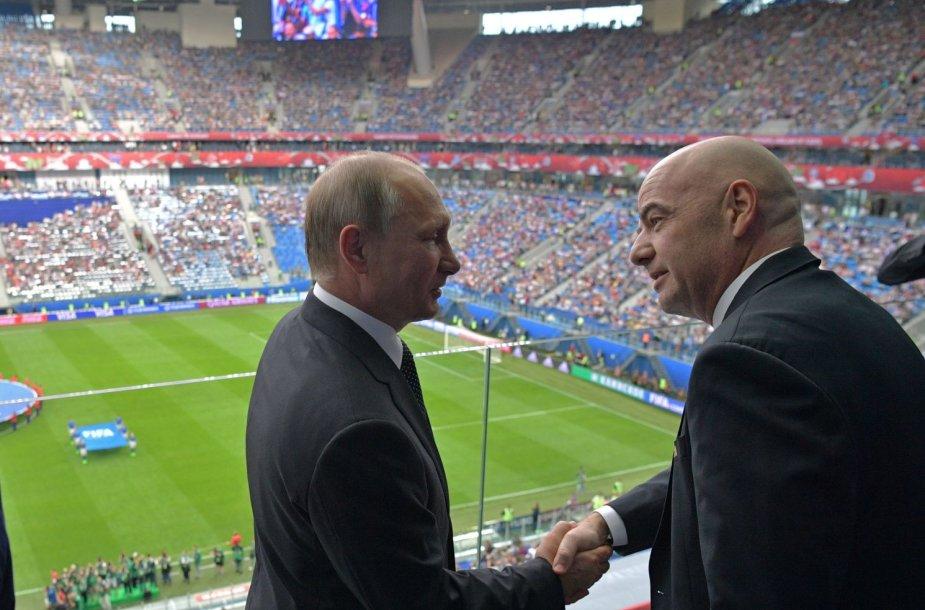 Vladimiras Putinas ir Gianni Infantino