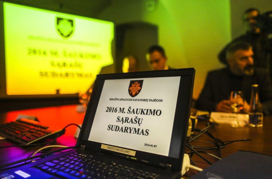 2016 metų šaukimo į privalomąją karo tarnybą sąrašų sudarymo procedūra
