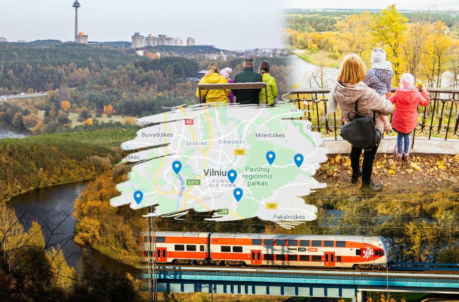 Apžvalgos aikštelės, nuo kurių atsiveria gražiausios panoramos Vilniuje