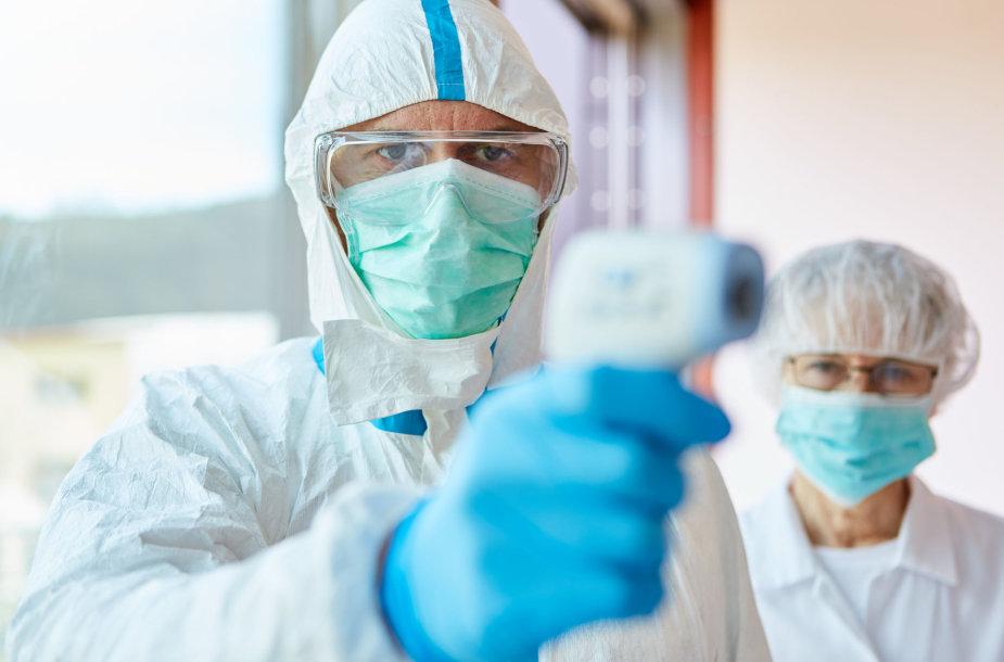 Koronaviruso tyrimai ligoninėje