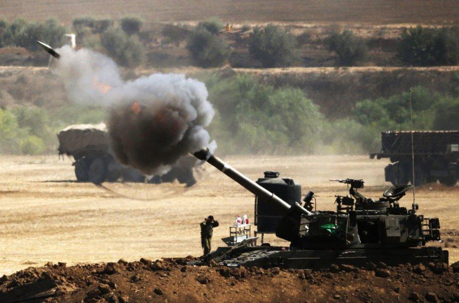 Iš Izraelio šaudoma į Gazos Ruožą