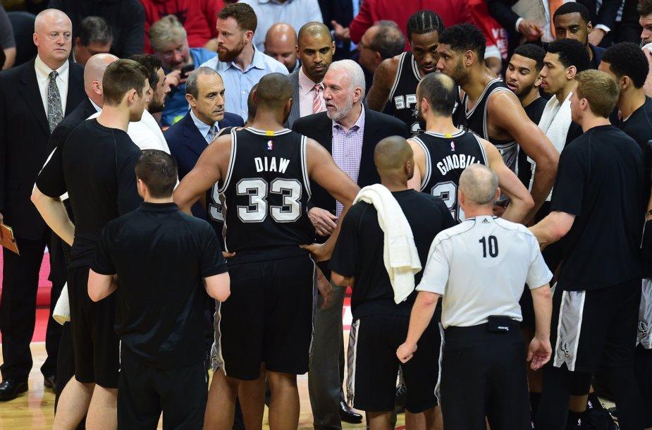 """NBA: """"Los Angeles Clippers"""" – """"San Antonio Spurs"""" (antrosios serijos rungtynės)"""