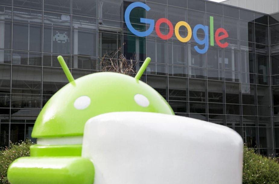 """Dabartinės """"Android Marshmallow 6.0"""" OS versijos simbolis"""