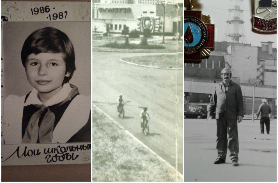 Iš Pripetės vaikystėje evakuota Tatjana ir jos tėtis