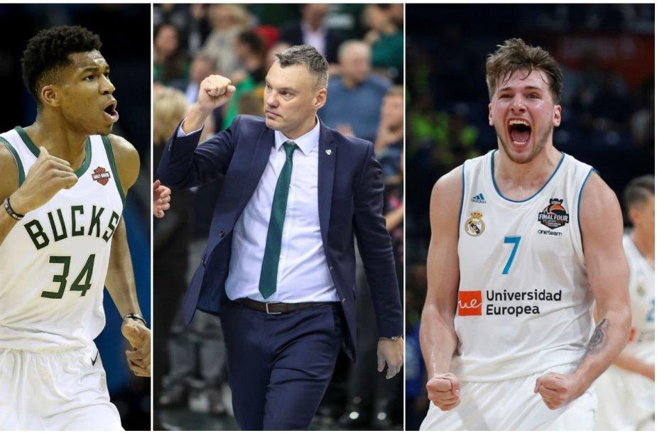 Giannis Antetokounmpo, Šarūnas Jasikevičius ir Luka Dončičius – krepšinio portalo eurobasket.com laureatai.