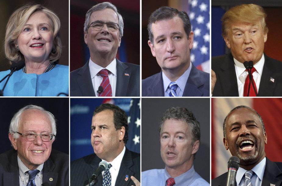 Galimi kandidatai JAV prezidento rinkimų lenktynėse