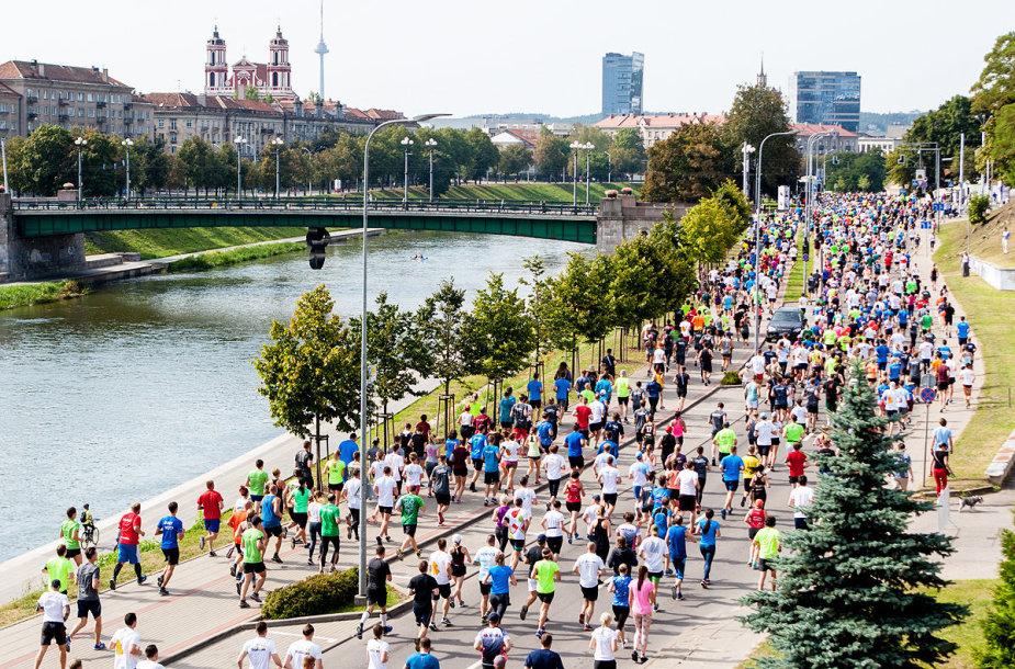 """Pristatytas """"Danske Bank Vilniaus maratono"""" žemėlapis"""