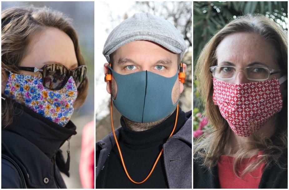 Pačių pasigamintos apsauginės veido kaukės