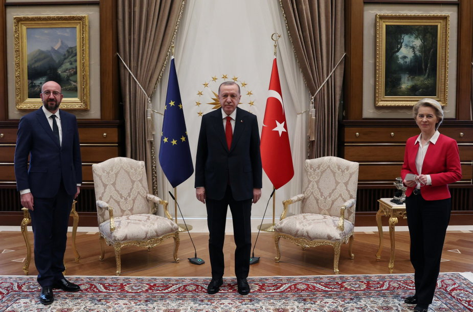 Charles'is Michelis, Recepas Tayyipas Erdoganas, Ursula von der Leyen