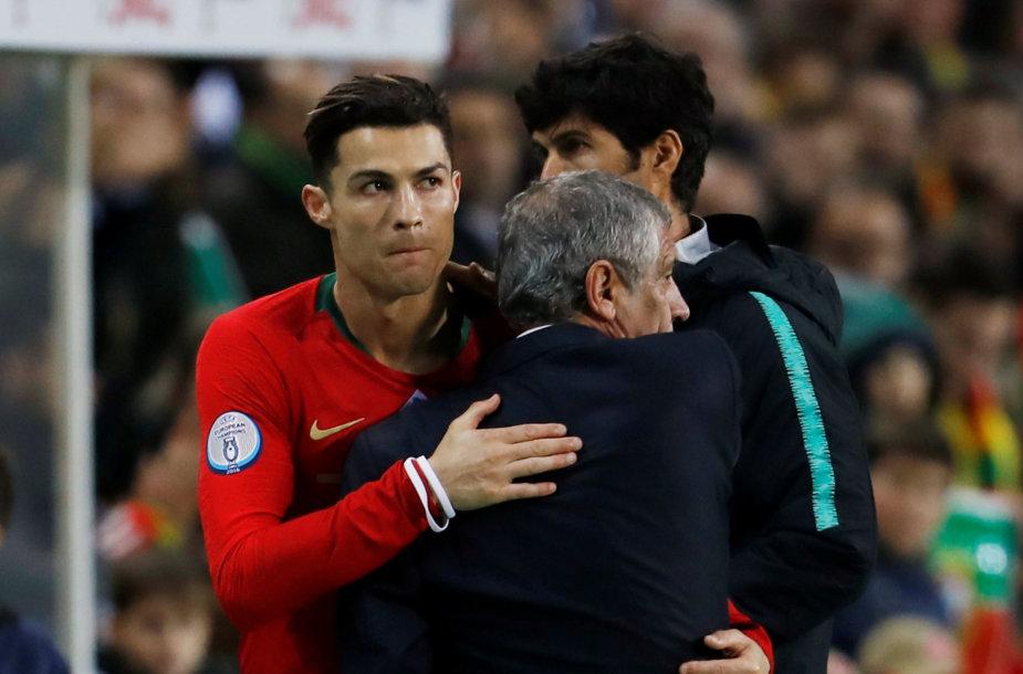 Fernando Santosas ir Cristiano Ronaldo