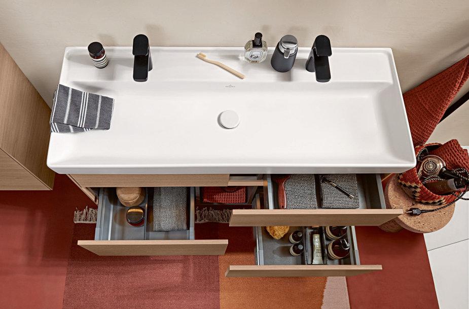 """Vonios kambario kolekcija """"Collaro"""" (gamintojas – Villeroy & Boch"""")"""