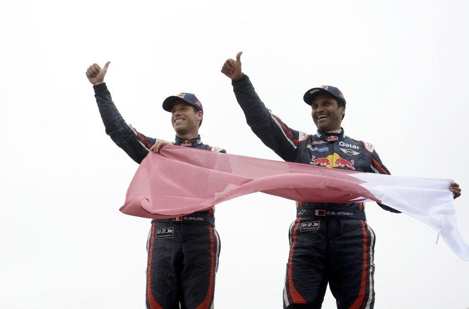 Dakaro nugalėtojai N.Al-Attiyah ir Matthieu Baumel