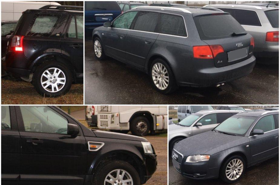 """Sulaikyti """"Land Rover Freelander"""" ir """"Audi A4"""" automobiliai"""