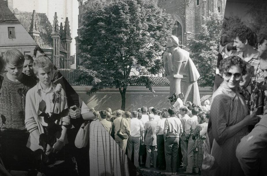 Mitingas prie Adomo Mickevičiaus paminklo – prieš 31 metus ir dabar