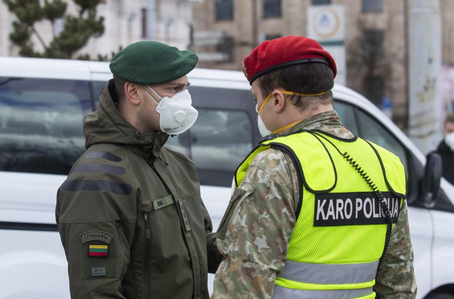 Vilniuje pradėjo patruliuoti Lietuvos kariuomenės Karo policija