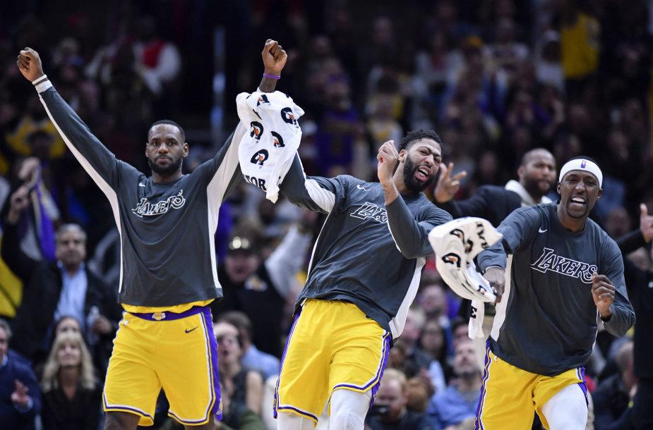 """""""Lakers"""" krepšininkai"""