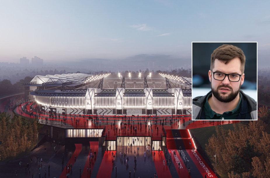 Būsimasis stadionas ir Povilas Poderskis