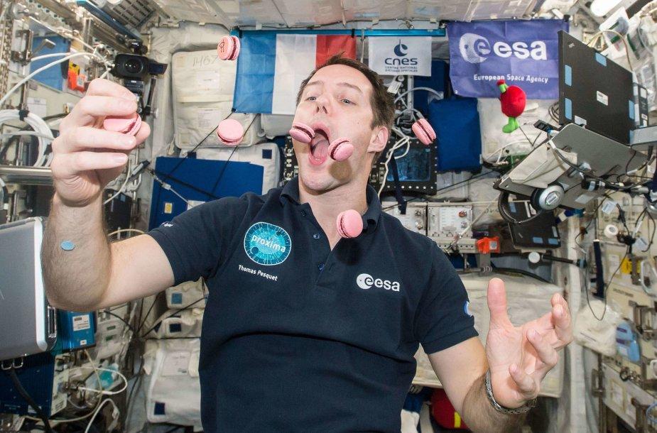 Astronauto Thomas Pesquet TKS darytos nuotraukos