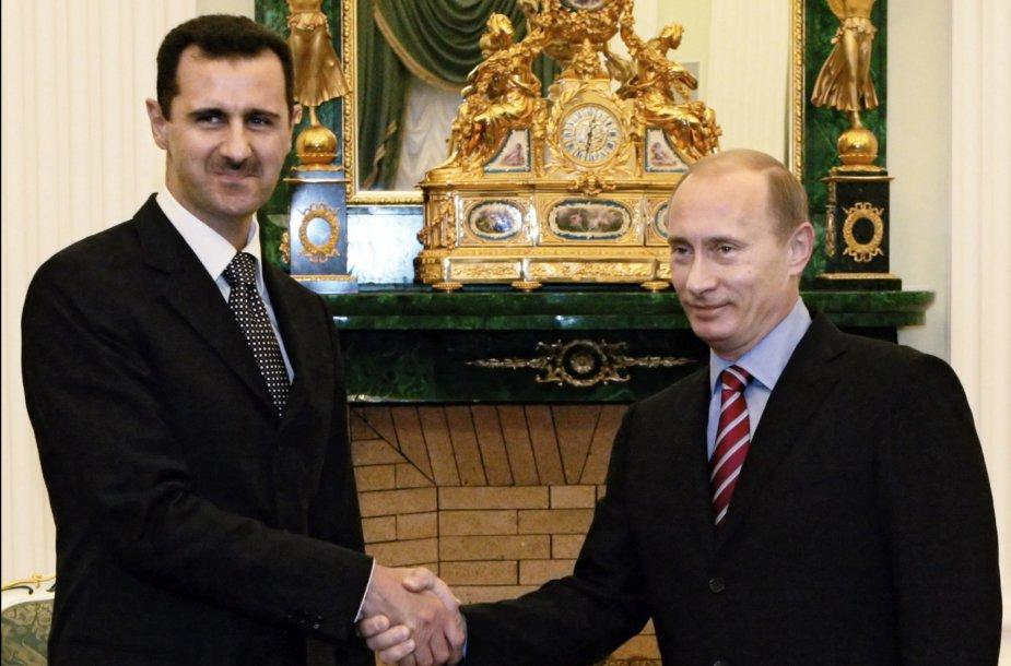 Basharas Assadas ir Vladimiras Putinas