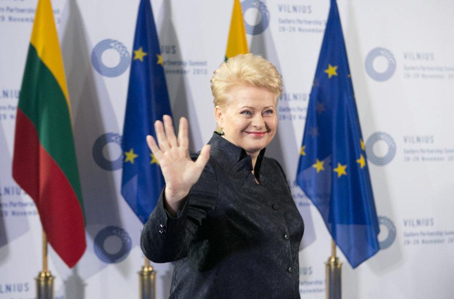 """3-iasis Rytų partnerystės viršūnių susitikimas """"Litexpo"""" parodų rūmuose Vilniuje, prezidentė Dalia Grybauskaitė"""
