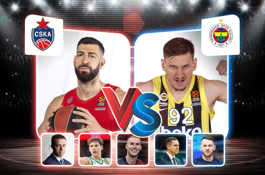 "Maskvos CSKA prieš Stambulo ""Fenerbahče"""