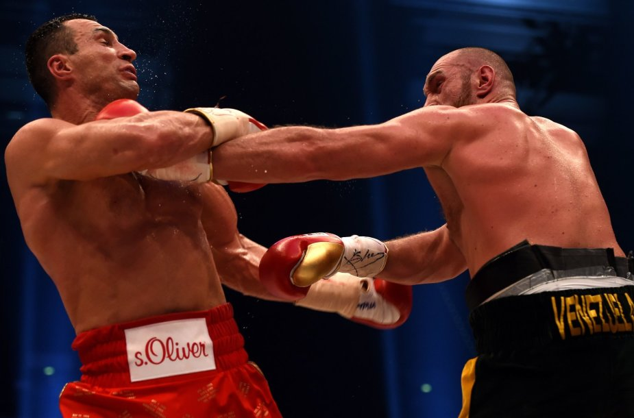 Tysono Fury ir Vladimiro Klyčko kova