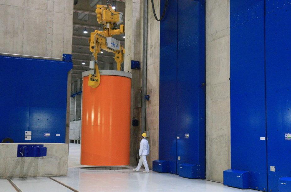Branduolinio kuro konteineris laikinojoje saugykloje