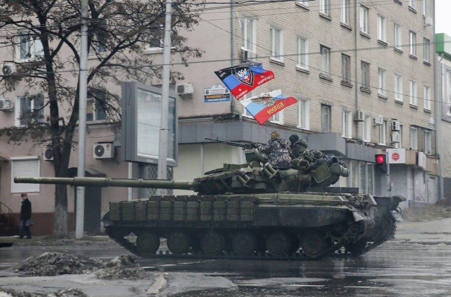 Rusijos teroristai Donecke