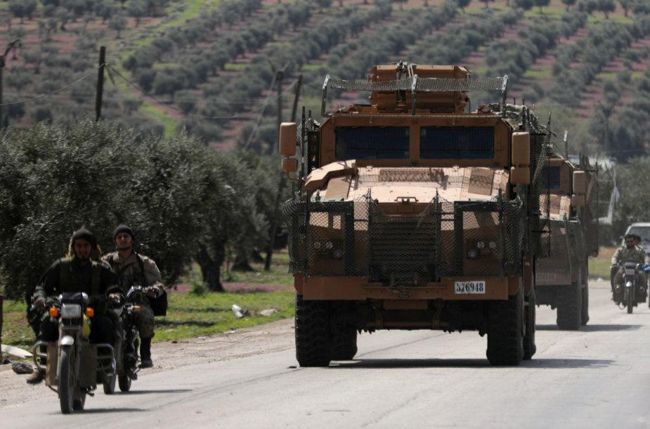 Turkijos karinė technika Afrine