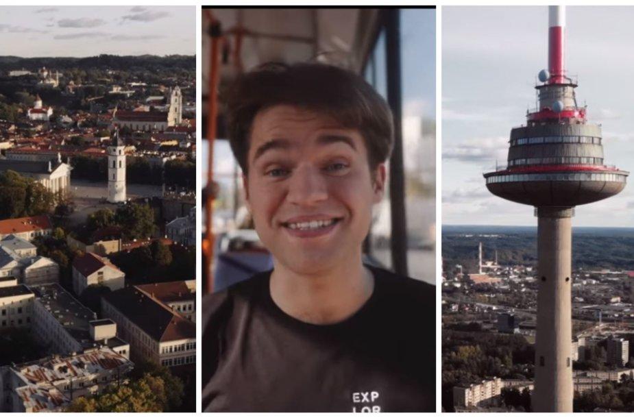 Jokūbas Laukaitis sukūrė naują vaizdo klipą apie Vilnių