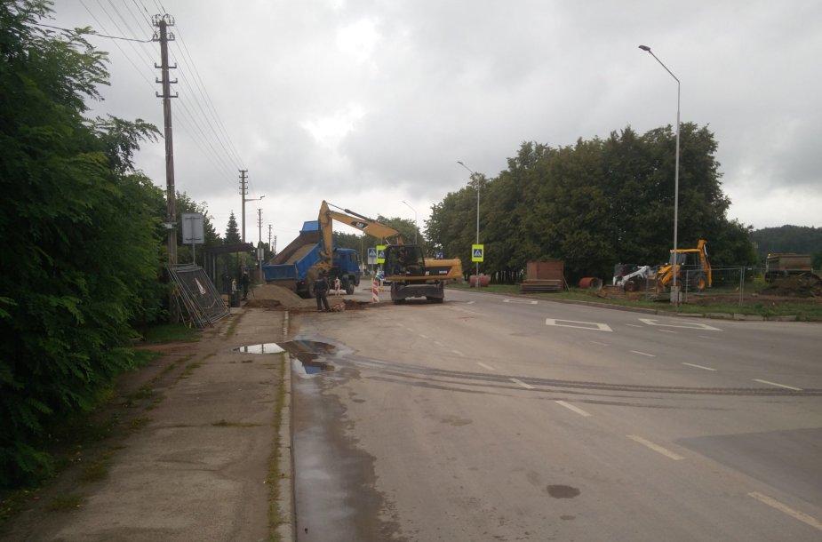 Remonto darbai Panerių gatvėje, Kaune